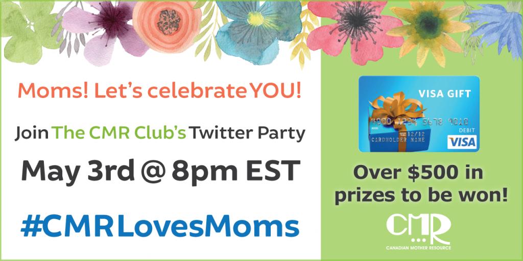 #CMRLovesMoms 2016 twitter party graphic