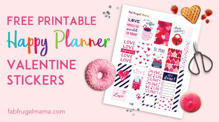 Fabfrugalmama.com Happy Planner valentine stickers