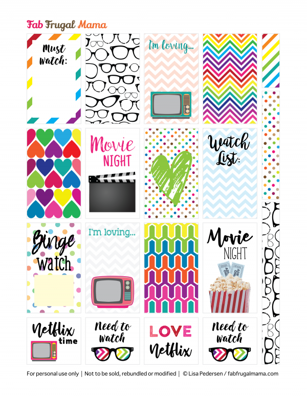 free Happy Planner printable stickers